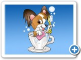 Greeting card design: Teacup Pup